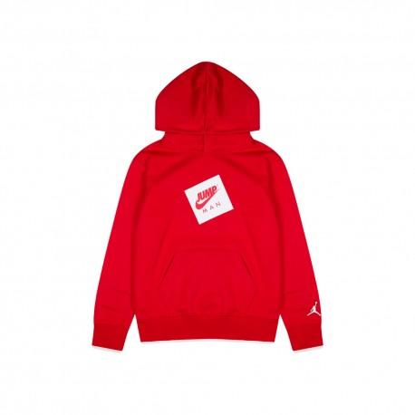 Nike Felpa Con Cappuccio Jump Rosso Bambino