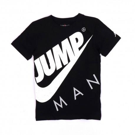 Nike T-Shirt Jump Nero Bambino