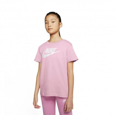 Nike T-Shirt Logo Rosa Bambina