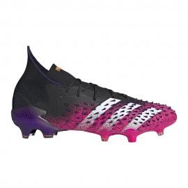 ADIDAS scarpe da calcio predator freak.1 fg nero fucsia uomo