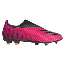 ADIDAS scarpe da calcio x ghosted.3 ll fg fucsia nero uomo