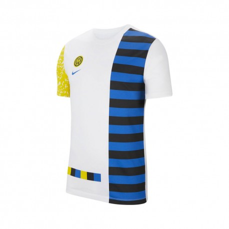 Nike Maglia Inter Ignite Salone Bianco Giallo Uomo Nike Maglia Inter Ignite Salone Bianco...