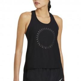 Nike Canotta Running Miler Icon Clash Nero Bianco Donna