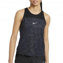 Nike Canotta Running Dvn Miler Nero Grigio Donna