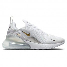 Nike Sneakers Air Max 270 Ess Bianco Metallico Oro Donna