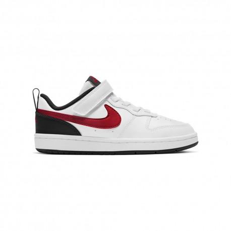 Nike Sneakers Court Borough Ps Bianco Rosso Bambino