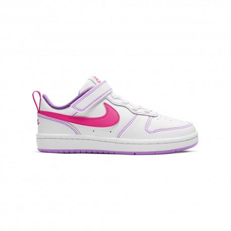 Nike Sneakers Court Borough Ps Bianco Rosa Bambina