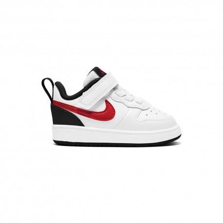 Nike Sneakers Court Borough Td Bianco Rosso Bambino