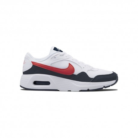 Nike Sneakers Air Max Sc Gs Bianco Rosso Bambino