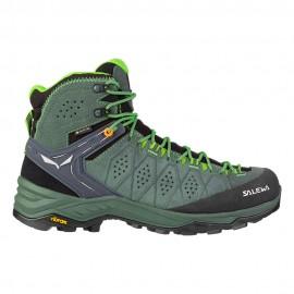 Salewa Pedule Trekking Alp Trainer 2 Mid Gtx Row Verde Uomo