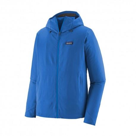 Patagonia Felpa In Pile R1 Techface Hoody Superior Blu Uomo