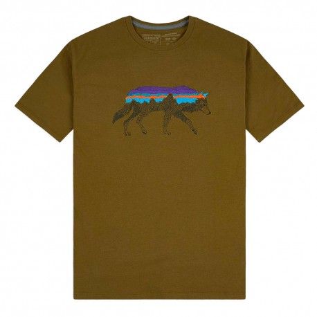 Patagonia T-Shirt Back For Good Mulch Marrone Uomo