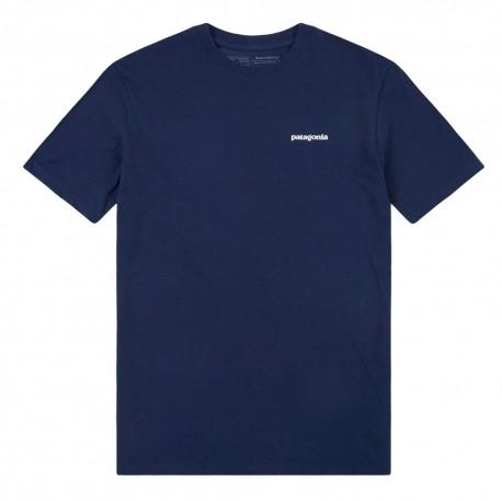Patagonia T-Shirt P-6 Logo Responsabili-Tee Blu Uomo