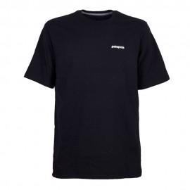 Patagonia T-Shirt P-6 Logo Responsabili-Tee Nero Uomo