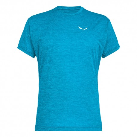 Salewa T-Shirt Puez Melange Blu Danube Melange Uomo