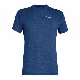 Salewa T-Shirt Puez Melange Dark Denim Melange Uomo