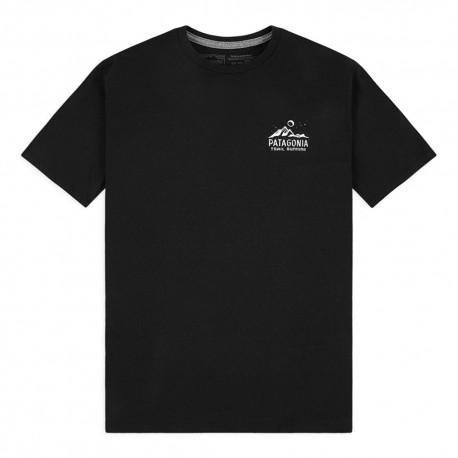 Patagonia T-Shirt Ridgeline Runner Responsabili-Tee Nero Uomo