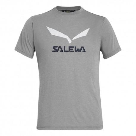 Salewa T-Shirt Solidlogo Heather Grigio Uomo