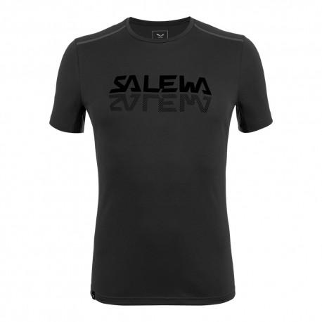 Salewa T-Shirt Sporty Graphic Nero Uomo