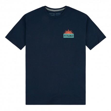 Patagonia T-Shirt Stop The Rise Responsabili-Tee Blu Uomo