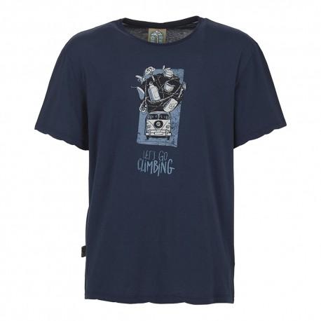 E 9 T-Shirt Lez Blu Navy Uomo