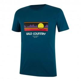Wild Country T-Shirt Flow Petrol Uomo