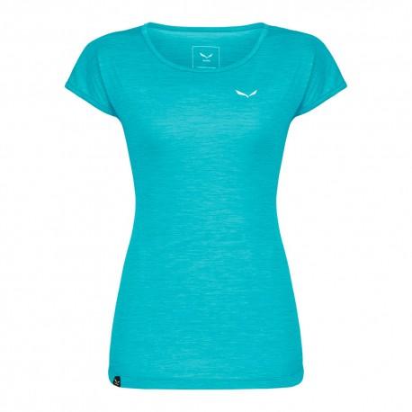 Salewa T-Shirt Puez Melange Maui Blu Melange Donna