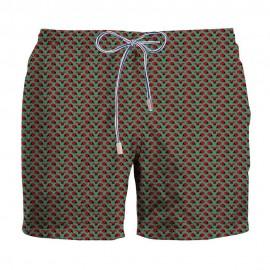 Zeybra Costume Boxer Coccinelle Verde Uomo