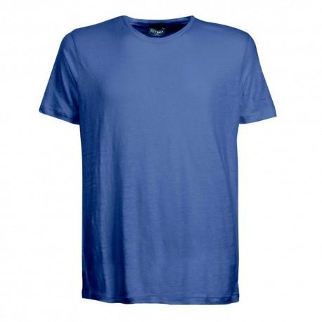 Zeybra T-Shirt Mare Lino Denim Uomo