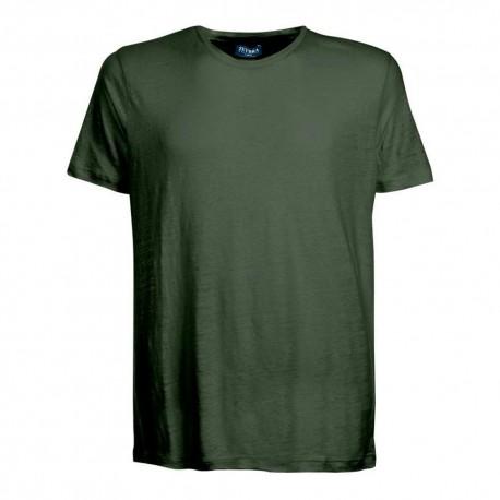 Zeybra T-Shirt Mare Lino Verde Uomo
