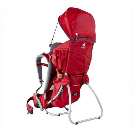 Deuter Zaino Trekking Porta Bimbo Kid Comfort 1 Set Rosso