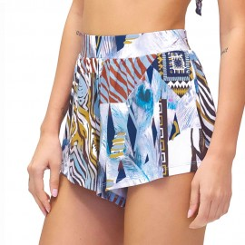 Effek Pantaloncini Mare Lycra Azzurro Donna