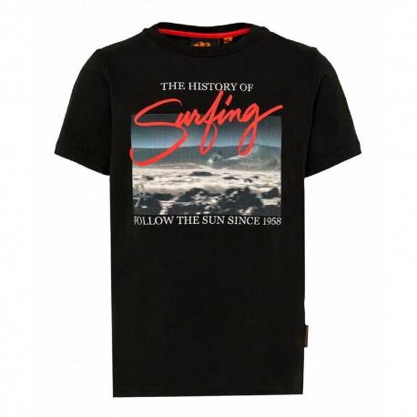 Sundek T-Shirt Mare Foto Nero Uomo
