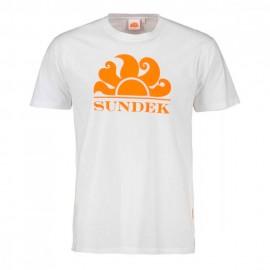 Sundek T-Shirt Mare Logo Sole Bianco Uomo