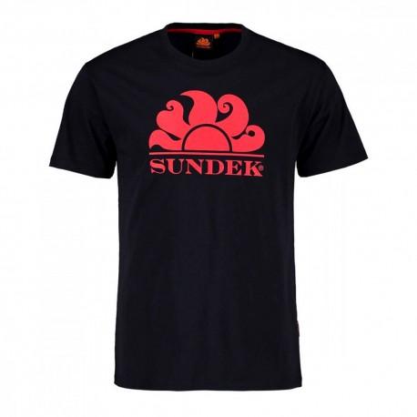Sundek T-Shirt Mare Logo Sole Blu Uomo