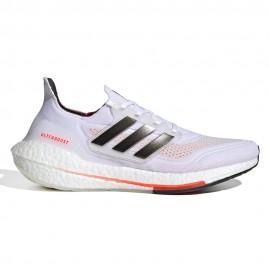 ADIDAS scarpe running ultraboost 21 ftwr bianco nero uomo