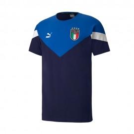 Puma Maglia Maniche Corte Italia Iconic Blu Uomo