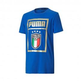 Puma Maglia Maniche Corte Italia Dna Blu Bianco Bambino