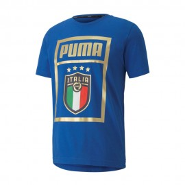 Puma Maglia Maniche Corte Italia Dna Blu Bianco Uomo