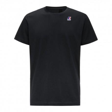 K-Way T-Shirt Mare Logo Nero Uomo