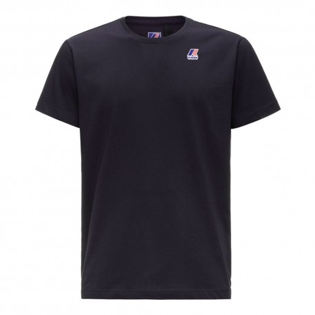 K-Way T-Shirt Mare Logo Blu Uomo
