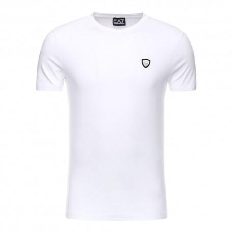 Ea7 T-Shirt Mare Basica Bianco Uomo