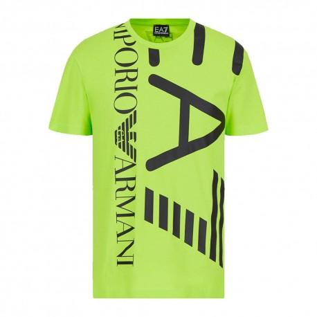 Ea7 T-Shirt Mare Big Logo Verde Uomo