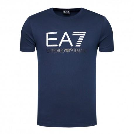 Ea7 T-Shirt Mare Stampa 3d Blu Uomo