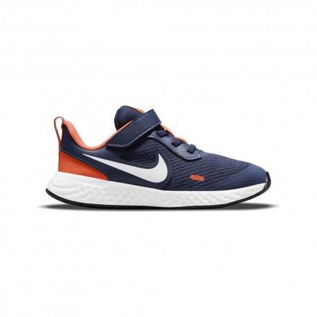 Nike Sneakers Revolution Ps Blu Bianco Bambino