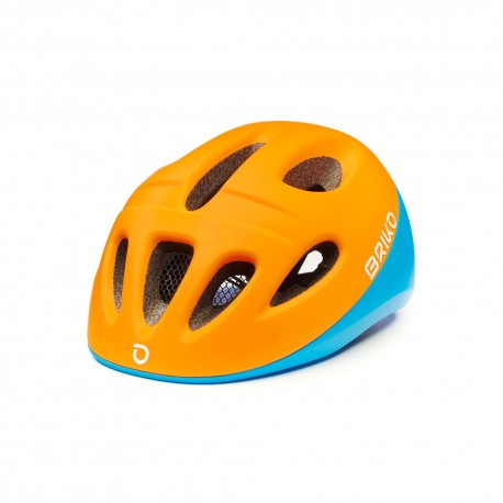 Briko Casco Bici Fury Arancio Blu Bambino
