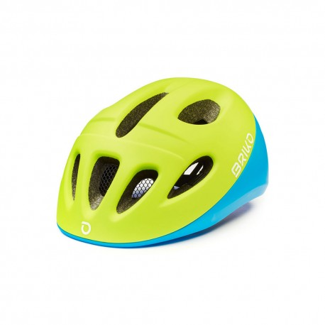 Briko Casco Bici Fury Blu Verde Bambino