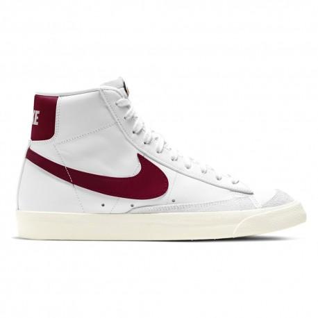 Nike Sneakers Blazer Mid Bianco Bordeaux Uomo