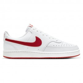Nike Sneakers Court Vision Low Bianco Rosso Uomo