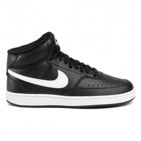 Nike Sneakers Court Vision Mid Nero Bianco Donna